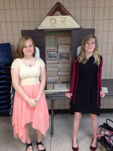 Savannah Dorriety and Rylee Robinson at the Polk History Fair